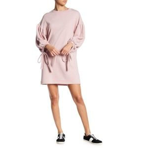Solutions Blouson Sleeve French Terry Dress